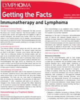 Lymphoma Disease Specific Booklets And Fact Sheets Lrf