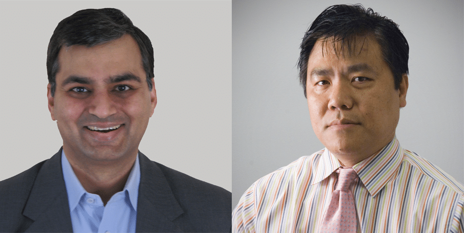From left: Sandeep Dave, MD, MS of Duke University and Jianguo Tao, MD of H.Lee Moffitt Cancer Center